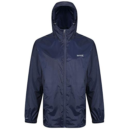 Regatta Herren Pack It III wasserdichte Shell Jacke L Navy Herren Shell Jacken