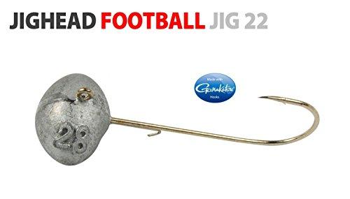 Spro Football Jighead Jig 22 - 3 Jighaken zum Gummifischangeln, Jigkopf für Gummifisch, Bleikopf für Gummiköder, Shad Angelhaken, Größe:10g / Gr. 4/0 (Fischen Haken 10 0)