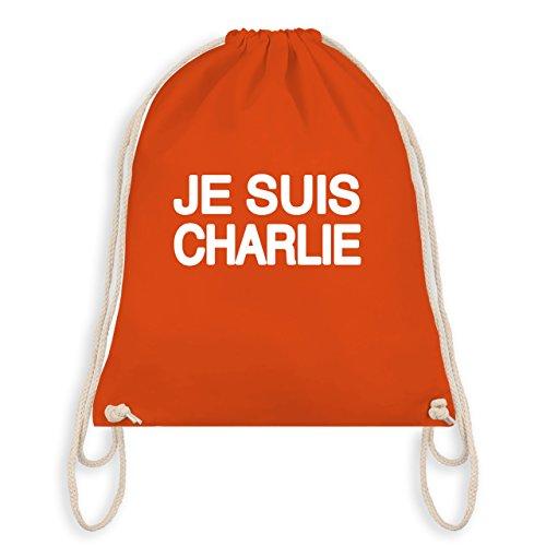 Statement Shirts - JE SUIS CHARLIE - Anschlag Charlie Hebdo Protest - Unisize - Orange - WM110 - Turnbeutel I Gym - Charlie Hebdo Frankreich