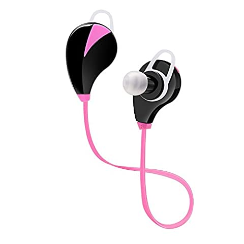 ULTRICS® Bluetooth Headphones, In Ear Wireless Headsets Earbuds Premium Stereo Bass Sound Sweatproof Noise cancelling Microphone Secure Fit Earphones for iPhone Samsung Galaxy Nokia HTC LG MP3 Players & Any Bluetooth Media