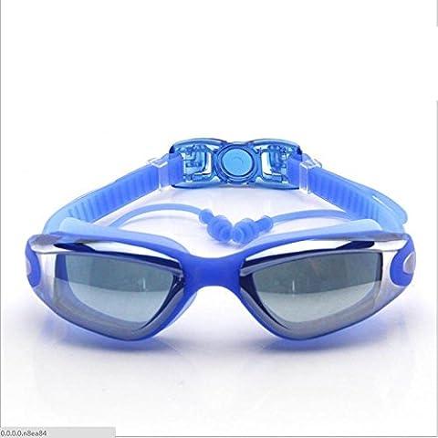 OPEL-R Electrochapado HD caja piscina deportes gafas o los anteojos, se pueden configurar las gafas de miopía y tapones para los oídos de protección del oído ,