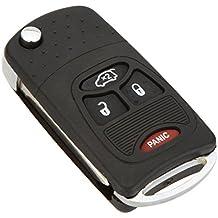 Carcasa para llavero de coche KATUR tipo navaja automática, carcasa para llavero de Chrysler Dodge con 3+ 1botones
