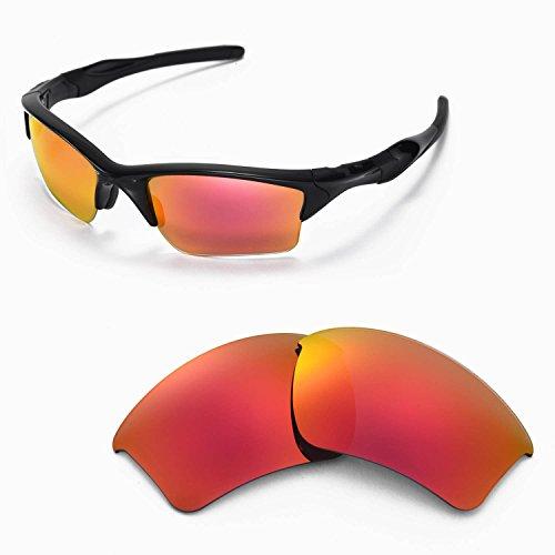 sunglasses restorer Ersatzgläser für Oakley Flak Jacket XL, Polarisierte Ruby Red Linsen