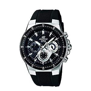 Casio EF-552-1AVEF EDIFICE – Reloj en caja sólida de acero inoxidable, 10 BAR, para Hombre, con Correa de Acero macizo, Negro