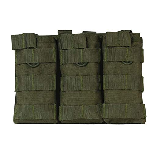MOLLE Triple Open-Top Magazine Pouch Fast AK AR M4 FAMAS Mag Pouch AG