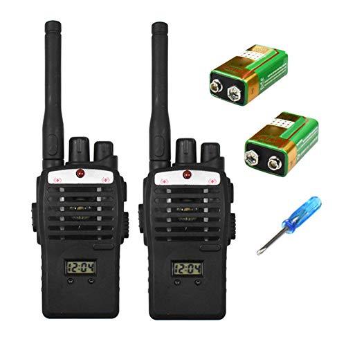 Kinder Walkie-talkie Toys, Wireless Communicator Transceiver, Wiederaufladbarer Dual Band Funkempfänge (1 Paar, Schwarz) - Wireless Communicator