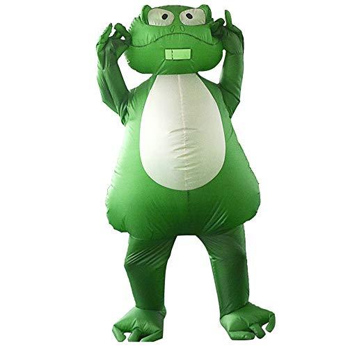 lem Erwachsene Frosch Maskottchen Kostüm Herren aufblasbare Frosch Overall Halloween Blow Up Kostüm