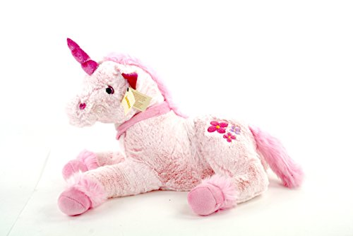 Inware 6204 Einhorn Feemi 45 cm, Pink, Liegend, Plueschtier, Kuscheltier