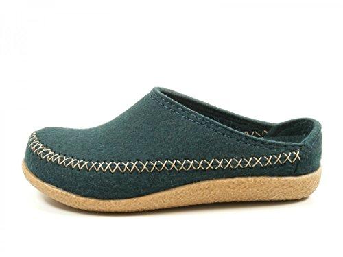 Haflinger Blizzard Credo 718001-0-13 Schuhe Damen Herren Hausschuhe Pantoffeln Wolle Grün