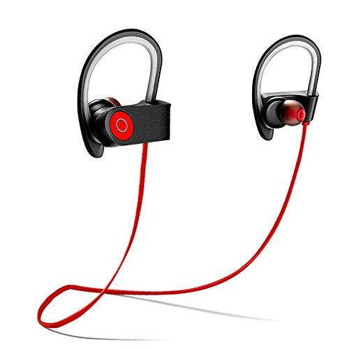Bluetooth Kopfhörer,Kabellose 4.1 Magnetische Stereo Ohrhörer, Schweißsichere Sportkopfhörer, Geräuschunterdrückung, Ergonomisches Design, Sicherer Halt, Eingebautes Mikrofon