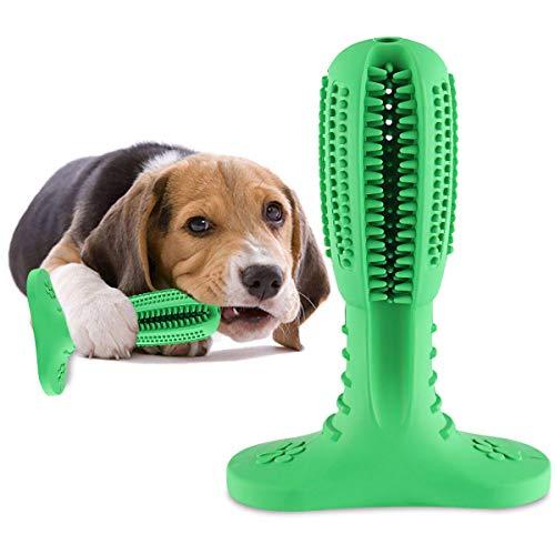 SHANNA, giocattolo da masticare per cani, spazzola i denti del cane, in gomma naturale, di lunga durata, atossica, per la pulizia dei denti del cane