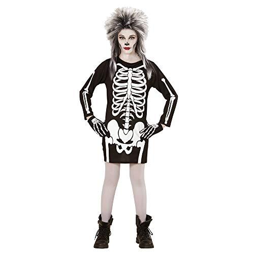 Widmann 00368 - Kinderkostüm Skelett Mädchen, Kleid, Größe 158, - Skelett Kleid Kind Kostüm