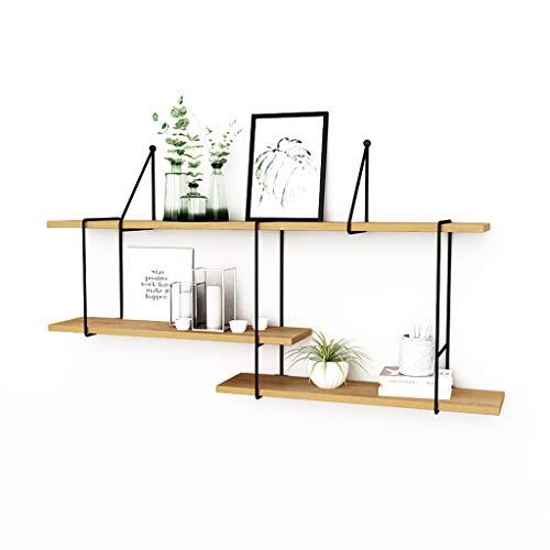 Minmin-biguajia Wandregal Wohnzimmer Schlafzimmer Massivholz Wand hängen Regal Rack Set-Top-Box Rahmen einfache Bücherregal Küchenregal (72 Bücherregal)