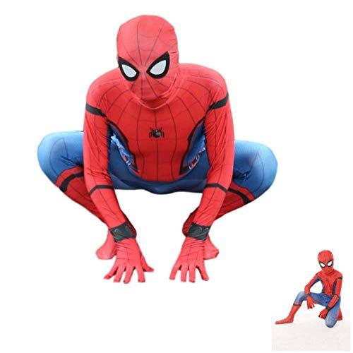 GFFLYY Spiderman Erwachsene Kinder Cosplay Kostüm 3D Spider Man Kostüm Kinder Body Spandex Overalls Rollenspiel Kleidung,Adult,L
