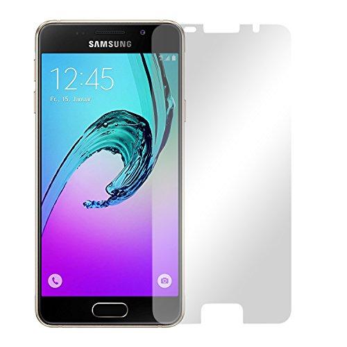 2 x Slabo Displayfolie für Samsung Galaxy A3 (2016) (SM-A310) NICHT A3 (SM-A300F) Displayschutzfolie Zubehör (verkleinerte Folien)