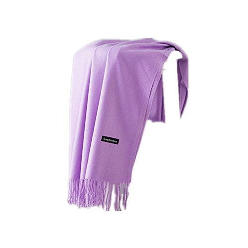 MMYOMI Frauen Männer Liebhaber Unisex glatt Kaschmir Schal 100% super weiche Plaid solide Pashmina Wrap Schal Schal (helles Lila)