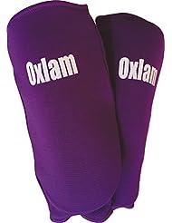 Oxlam elástico protección del antebrazo, fibra de carbono acolchado, para todos los artes materiales, unisex, color púrpura, disponible en diversos tamaños.