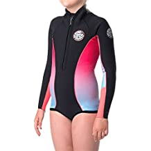 2017 Rip Curl Junior Girls G-Bomb Long Sleeve Spring Shorty BRIGHT PINK WSP4LJ Sizes- - 14 Years