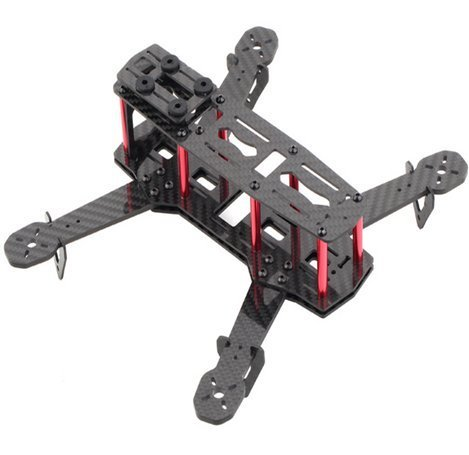 RioRand C250 Carbon Fiber Mini 250 FPV Quadcopter Frame Mini H Quad Frame RR-237 (Mini Quad 250 H)