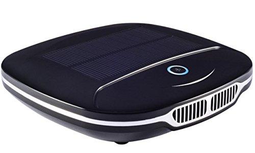 Luftreiniger Auto Solar Zusätzlich zu Formaldehyd Geruch Anion Aktivkohle PM 2.5 , black