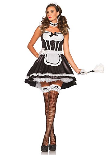 Leg Avenue 85380 - Fiona Featherduster Damen kostüm , Größe M/L (EUR 38-40)