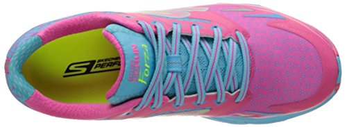 Skechers Go Run Forza, Running Femme Rose (Rose/Bleu)