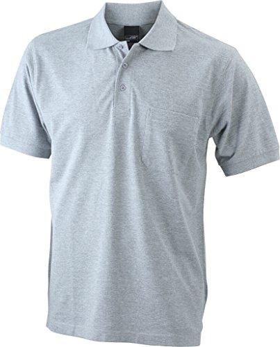 JAMES & NICHOLSON Klassisches Poloshirt mit Brusttasche grey-heather