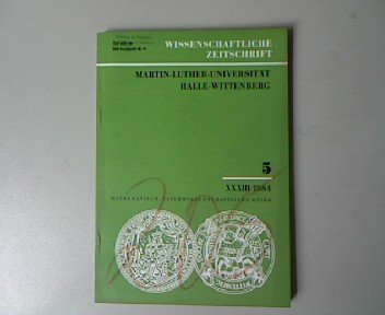 Wissenschaftliche Zeitschrift. Martin-Luther-Universität Halle-Wittenberg. Mathematisch-Naturwissenschaftliche Reihe 5, XXXIII 1984. Taschenrechner im Mathematikunterricht.