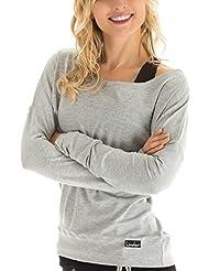 Winshape WS2 Tee-shirt à manches longues pour femme Pour loisirs, sport et danse M Gris - Gris mélangé