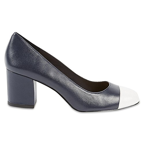 Marks & Spencer M&S Collection T026271W Wide Fit Leather Block Heel Court...