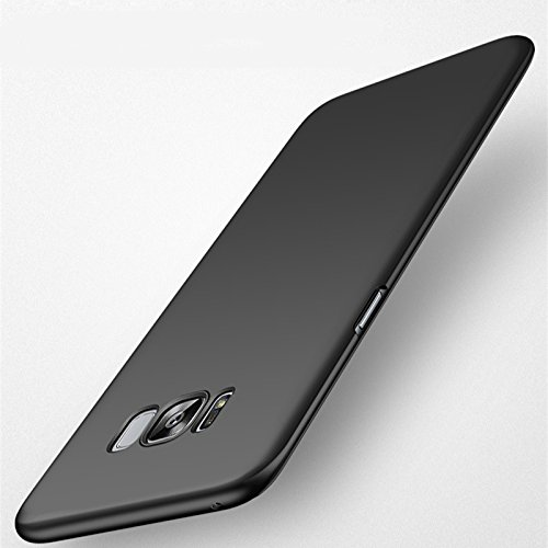 iKazen Super Thin Matte Finish Frosted [Full Coverage] Lightweight Back Case Cover for Samsung Galaxy S8 – Black