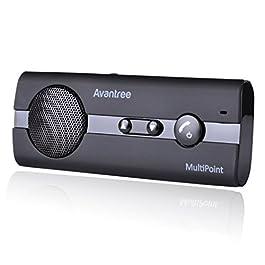 Avantree 10BS Kit Vivavoce Bluetooth da Auto con sensore Movimento per Aletta Parasole, Senza Fili Vivavoce Bloototh per…