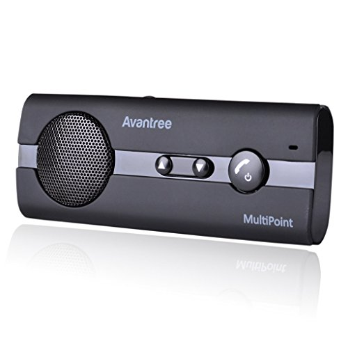 Avantree 10BP Freisprecheinrichtung Car-Kit Visier A2DP Support - V4.0 Bluetooth Auto Musik GPS Unterstützung - KFZ Freisprecheinrichtung Sonnenblende, für bis zu 2 Handys