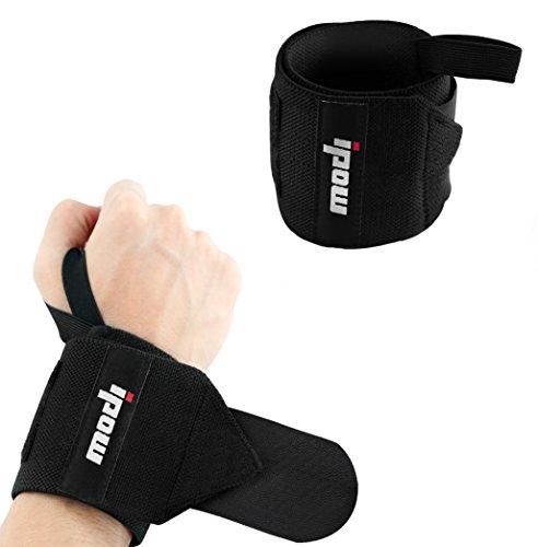 [2 Pièce] Ipow Protège-poignet sport bracelet main-poignet Ceinture protecteur pour gymnastique culturiste/musculation/ aérobic/sports/body-building