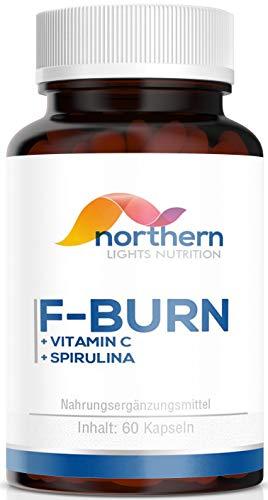 Abnehmen - Fatburner von N.L Nutrition - Hochdosiert - 60 Kapseln - Vitamin C, Ingwer, Spirulina und Löwenzahn - Hergestellt in Deutschland