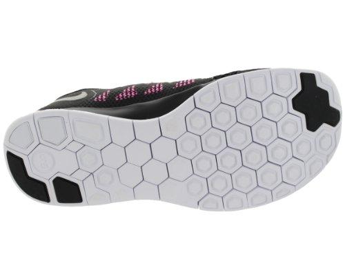 Nike Nike Free 5.0 Flash, Chaussures de running femme Noir (black-metallic silver-pink glow-white)