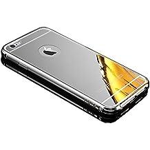 Mirror Case para iPhone 5C Funda, Vandot Duro Híbrido Carcasa para iPhone 5C Premium Bumper Case del Metal Aluminio + PC Ultrafina Espejo Protective Trasero Funda Cover - Oro Rosa / Rosado