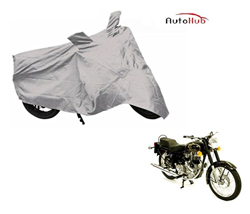 Auto Hub Premium Silver-Matty Bike Body Cover For Royal Enfield Bullet 350  available at amazon for Rs.249