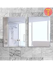 Art Street Bathroom Mirrors Wall Mounted, Modern Frameless Mirror for Bathroom, Bedroom, Living Room Hanging Horizontal or Vertical