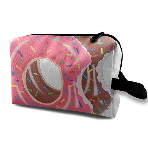 Reise-Kosmetiktaschen Cherry Donut Travel Portable Make-up Tasche Reißverschluss Geldbörse Hangbag Geldbörsen - Patent-make-up-tasche