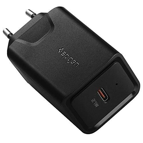 Spigen SteadiBoost PD USB Ladegerät USB C Ladegeraet mit 27W USB C Adapter Netzteil fürs Schnellladen Kompatibel mit iPhone, iPad, Galaxy und Galaxy Tab - Schwarz