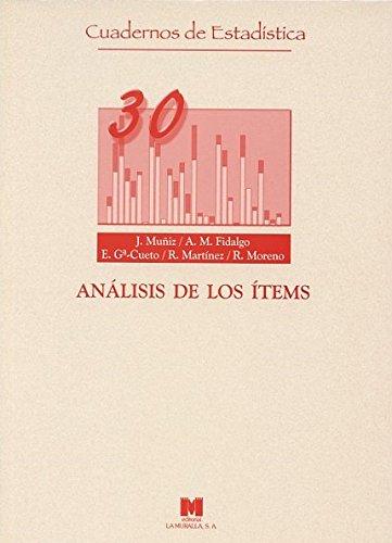 Análisis de los ítems (Cuadernos de estadística)