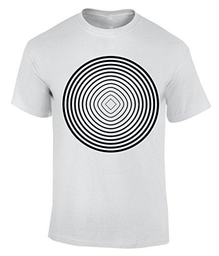 Illusion Circle T-Shirt Herren Weiß