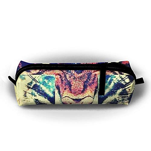 Pengyong Cross Tiger Federmäppchen mit Reißverschluss, Kleine Kosmetiktasche, Make-up-Tasche, Münzbörse, für Kinder, Jugendliche und andere ()