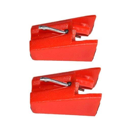 Ersatz-Stylus Plattenspieler Nadel für Ion ICT04RS-Ion TTUSB, TTUSB10, ittcd10, lpdock, LP2CD, lp2flash, iProfile und Profil Flash (2Stück) rot Stylus Ruby