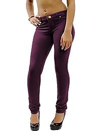 Nuevas mujeres señoras Super elástico Fitted Jeans Jeggings 8–26
