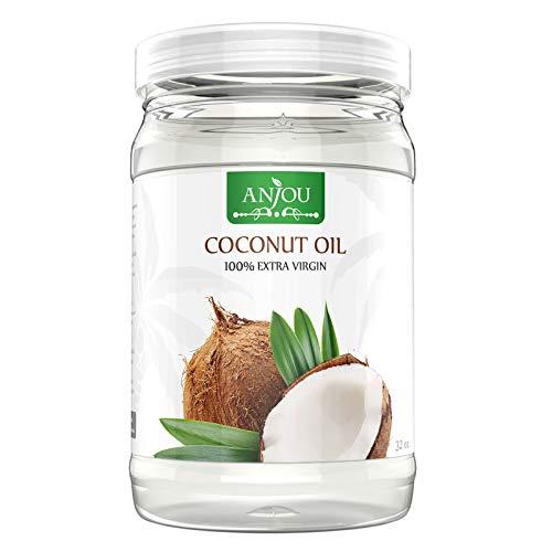 Kokosöl Anjou Naturbelassen Kaltgepresst und Nativ für Haare, Haut, Gesundheit, Pflege, Küche, Backen, 946ML