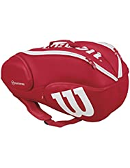 Wilson Pro Staff Lot de 9 Sac de tennis, Rouge/blanc