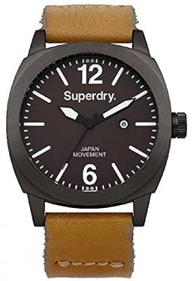 Reloj Superdry SYG103TT de cuarzo para hombre con correa de piel, color marrón de Superdry