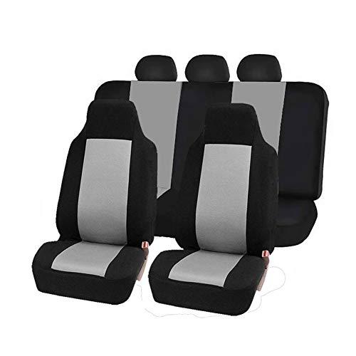 Classic Universal Autositzbezüge Schonbezüge Vordersitze und Rücksitze mit Kopfstützenbezügen Grau 7 Stück